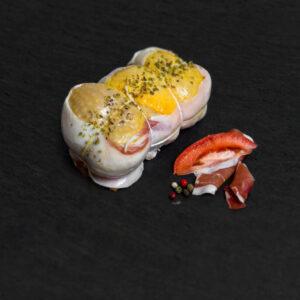 Muslo Relleno de Jamón, Tomate y Orégano